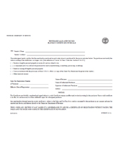 Sales Tax Exemption Form - Tennessee